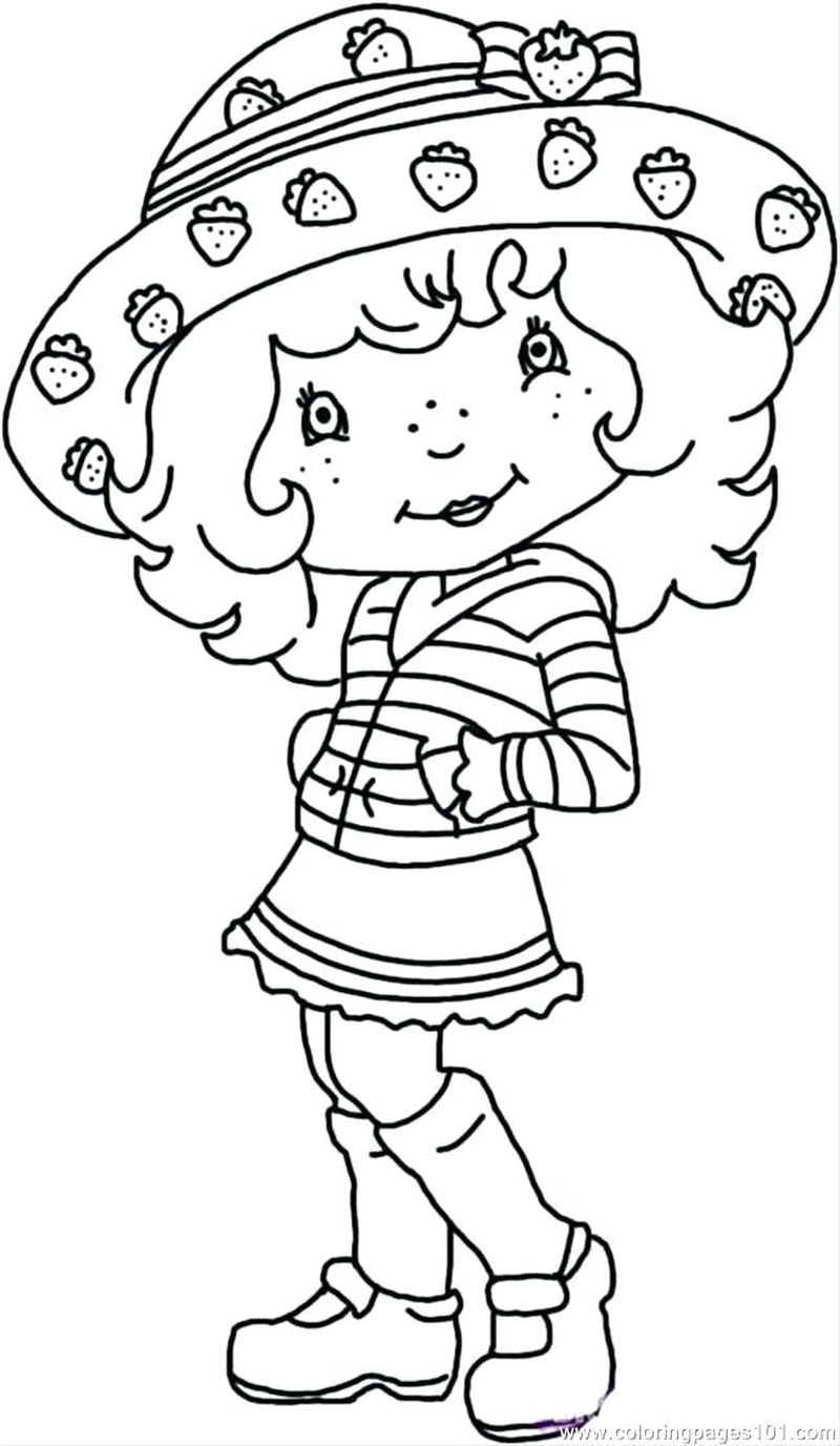print out coloring pages strawberry shortcake