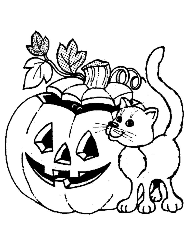 print scary jack o lantern coloring pages