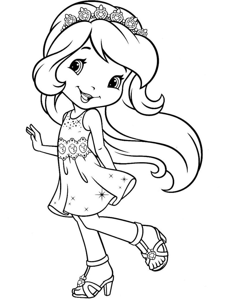 print strawberry shortcake coloring pages