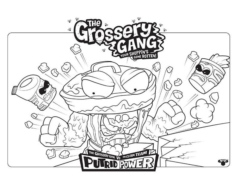 printable Grocery Gang Coloring Pages pdf