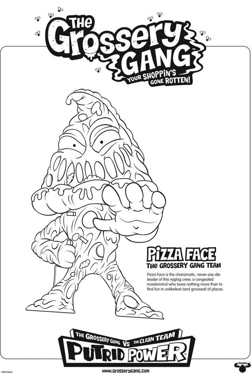 printable Grossery Gang Coloring Pages free