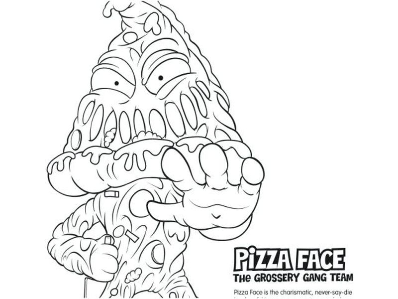 printable Trash Pack Coloring Pages