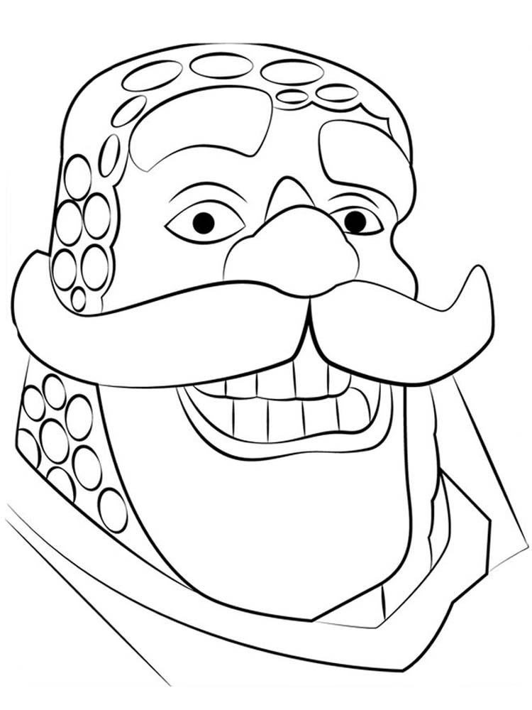 printable clash royale cards coloring pages