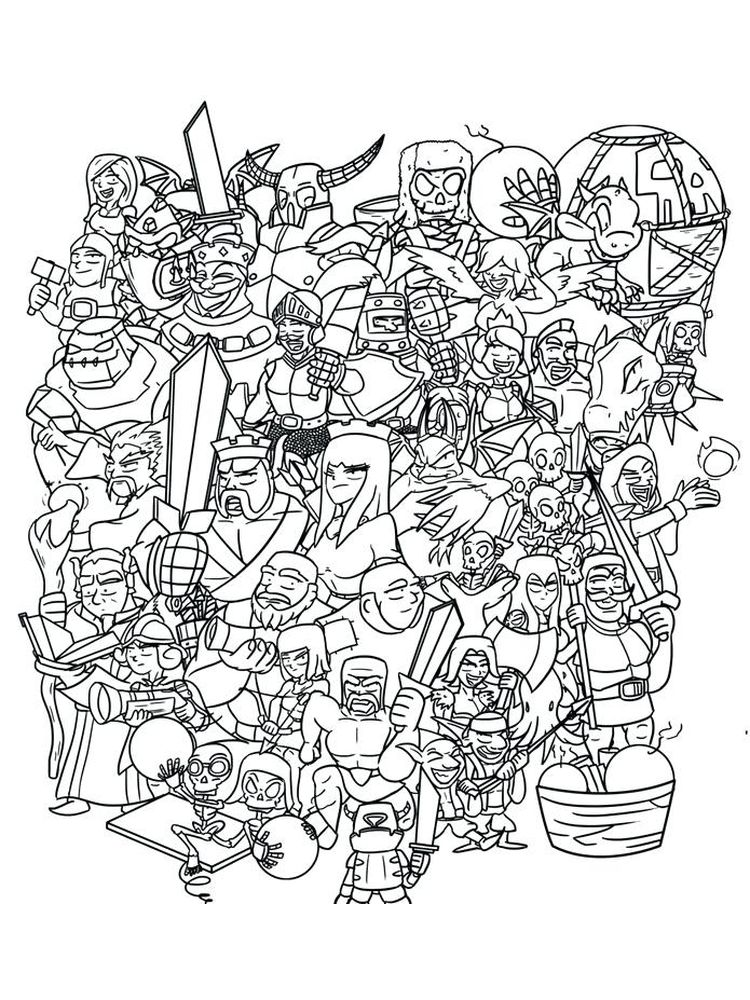 printable clash royale coloring pages collection free