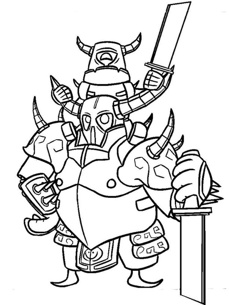 printable clash royale coloring pages free