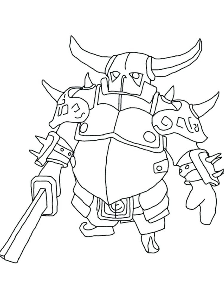 printable clash royale coloring pages sparky