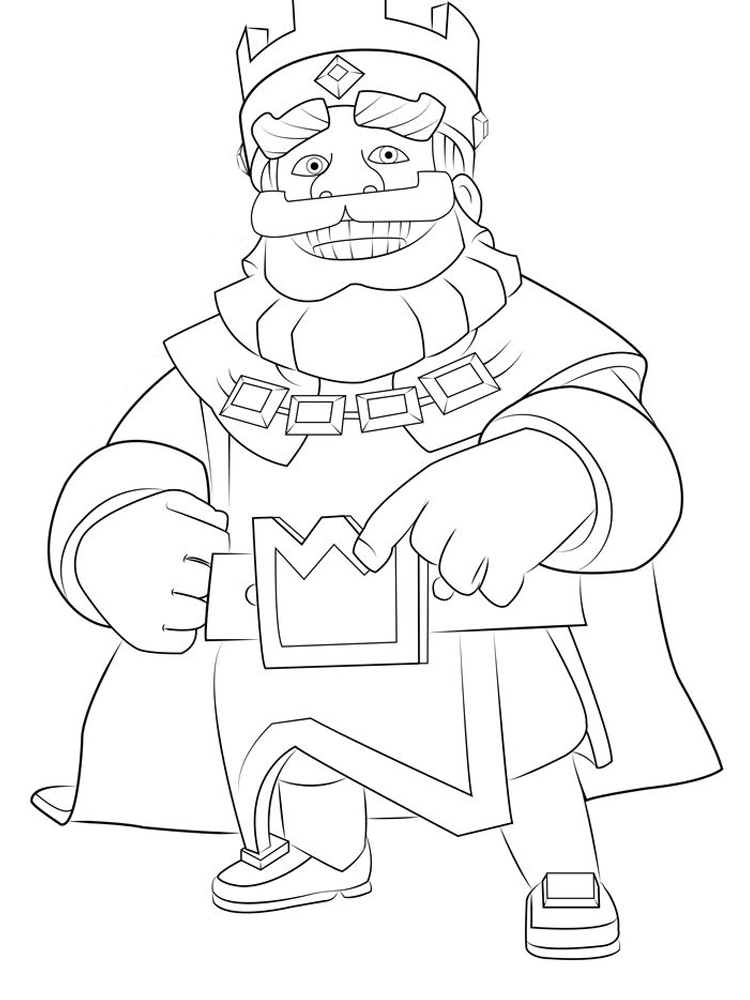 printable clash royale coloring pages