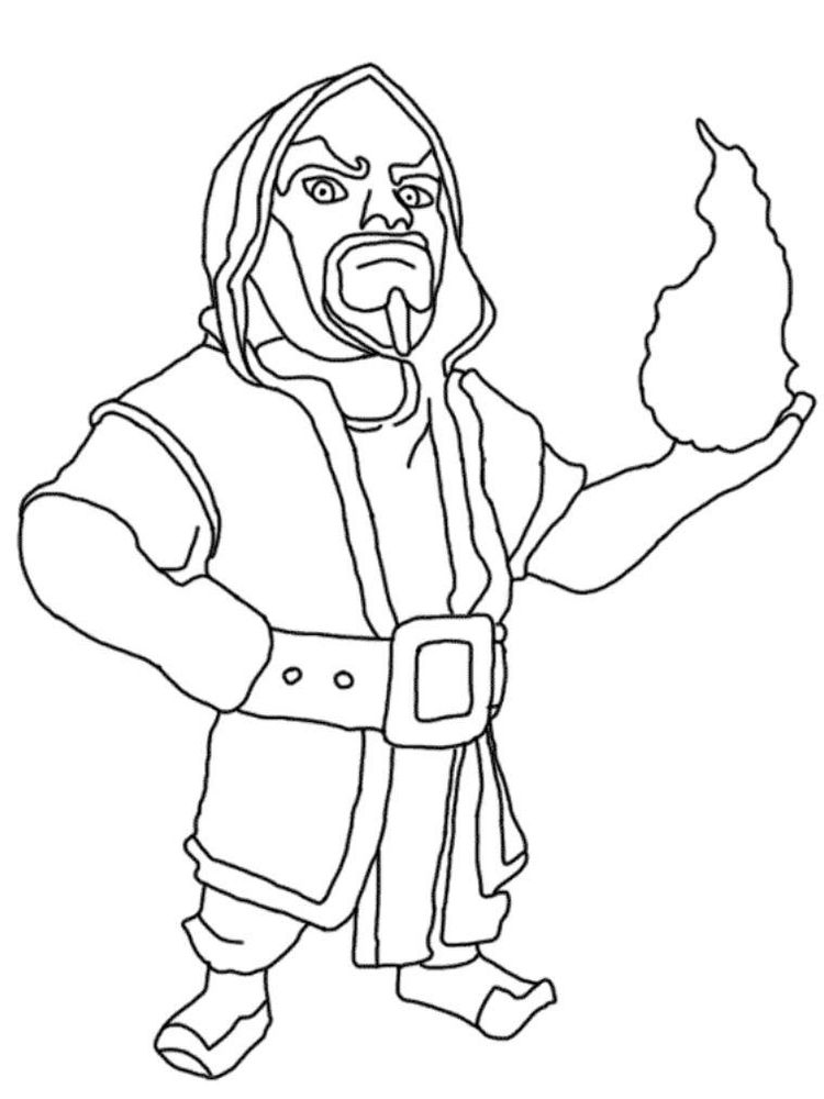 printable clash royale colouring pages