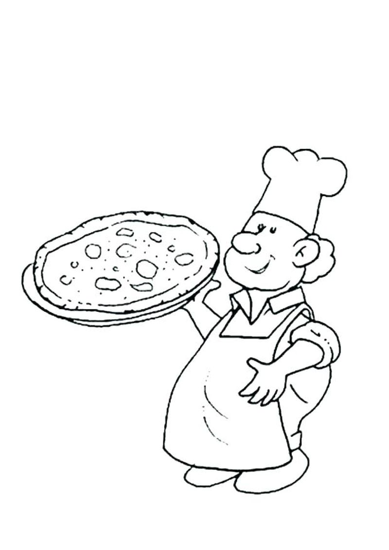 printable coloring pages of pizza