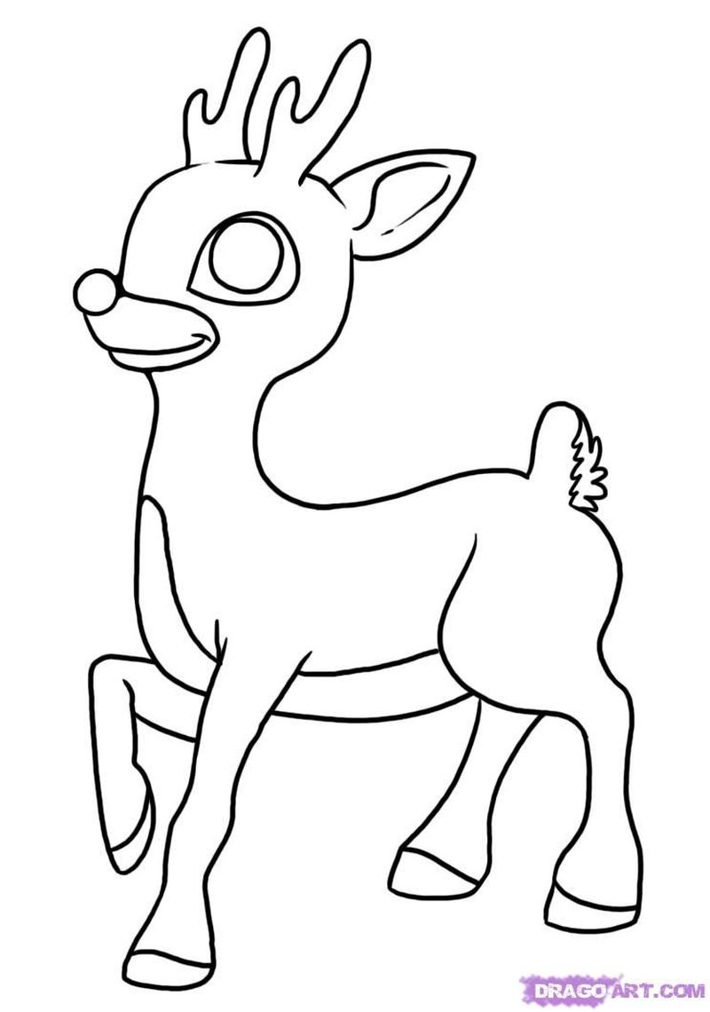 printable coloring pages rudolph the red nosed reindeer