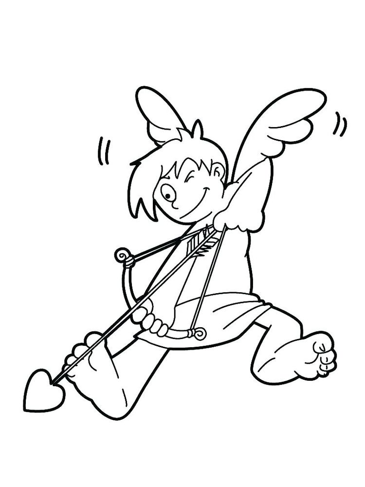 printable cupid coloring pages online