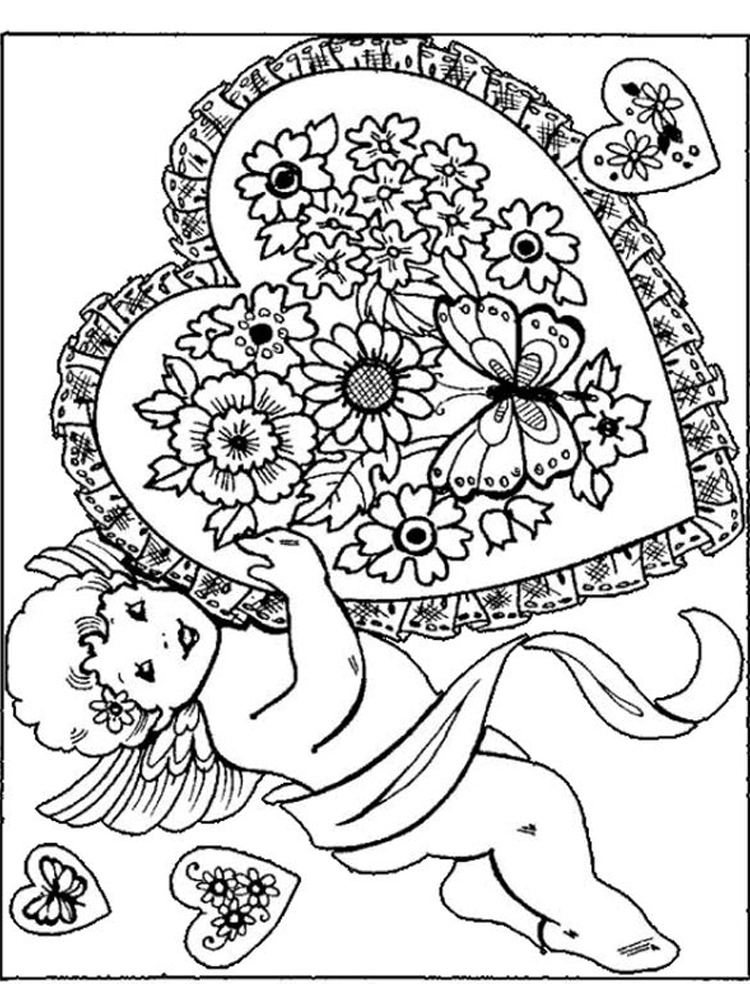 printable cupid coloring pages pdf