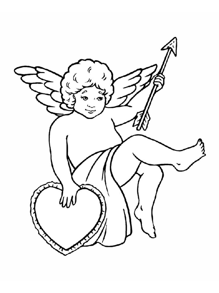 printable cupid coloring pages pict