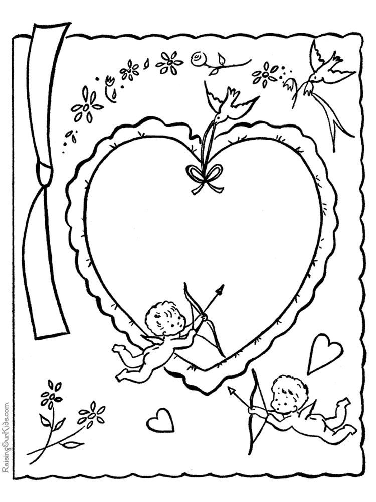 printable cupid coloring pages picture