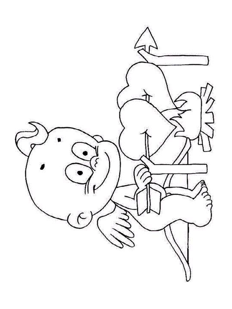 printable cupid coloring pages sheet free