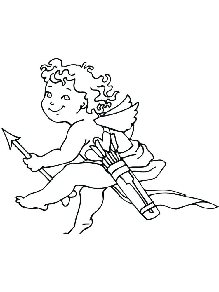 printable cupid coloring pages sheet