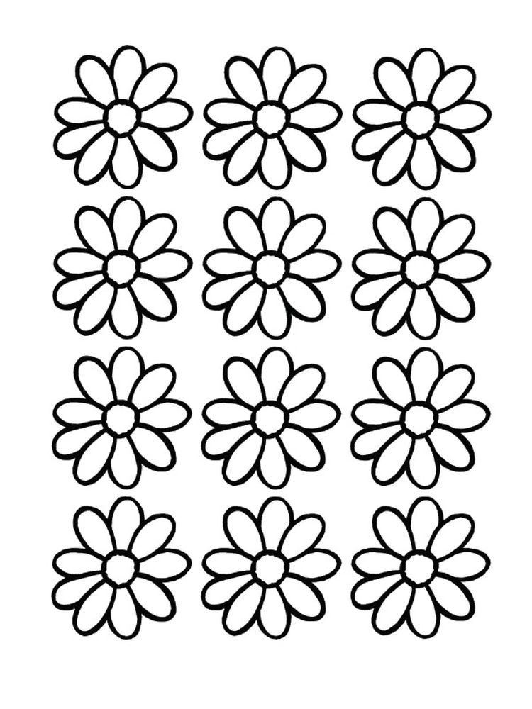 printable daisy coloring pages for preschoolers