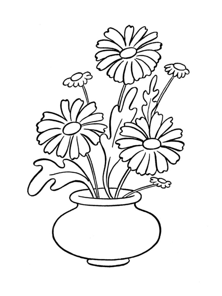 printable daisy coloring pages to print