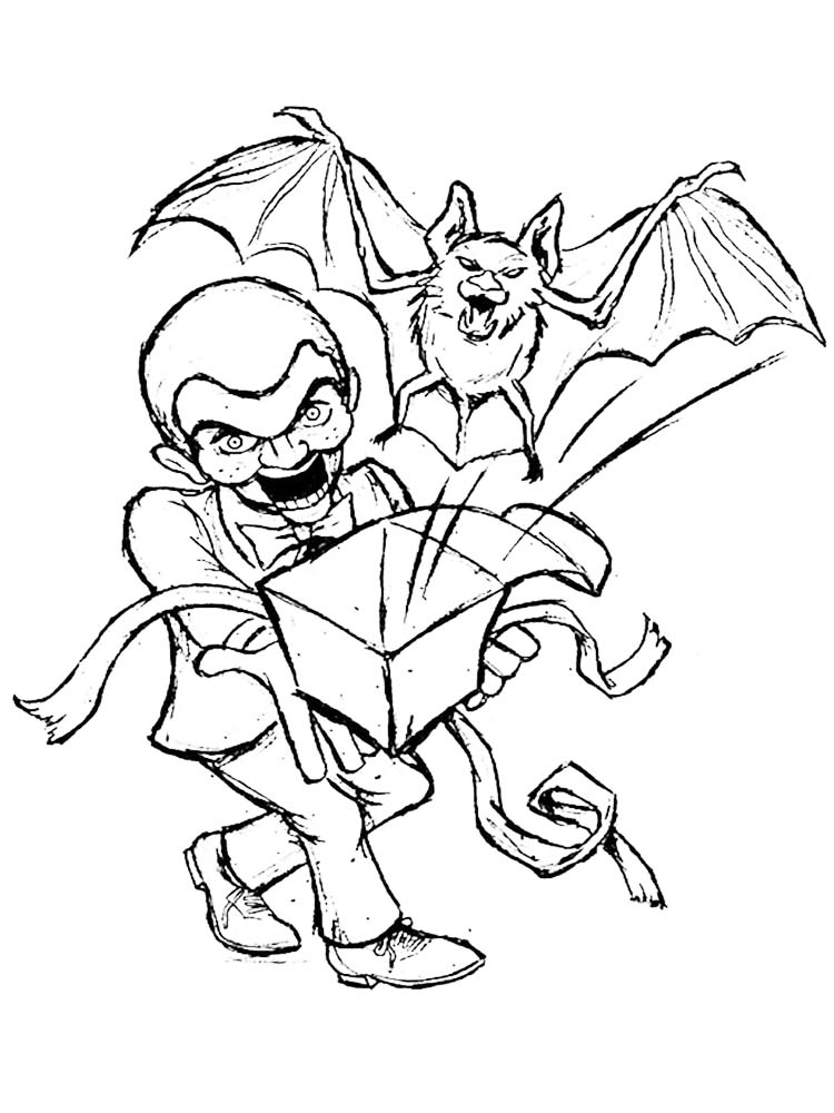 printable goosebumps movie coloring pages