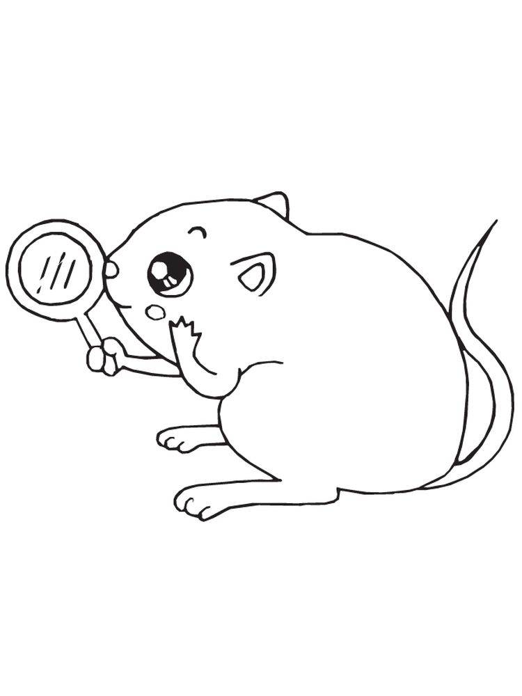 printable mouse outline coloring pages free