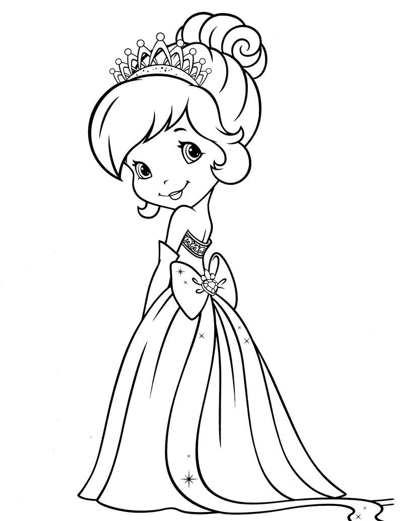 rainbow strawberry shortcake coloring pages