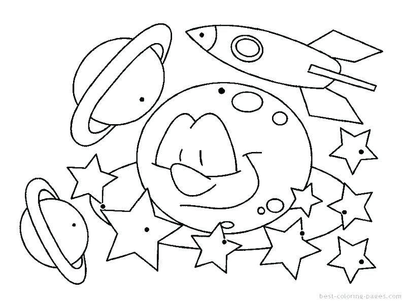 reproducable space themed coloring pages for kids Printable