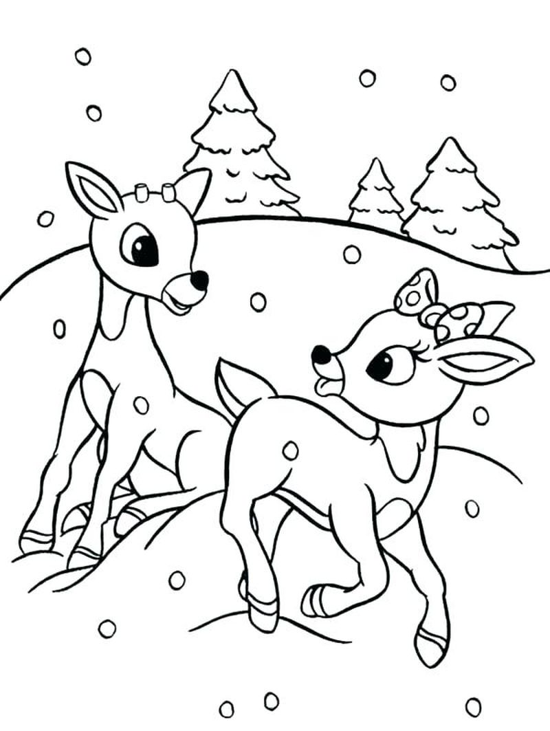 rudolph coloring pages grown up