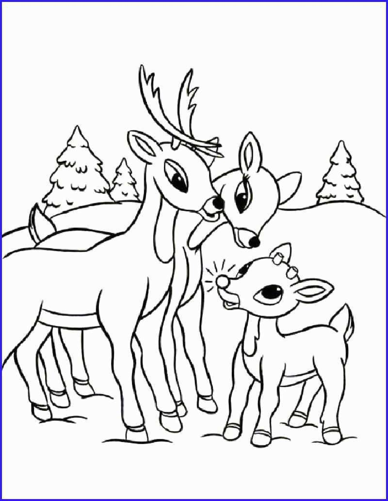 rudolph coloring pages hd