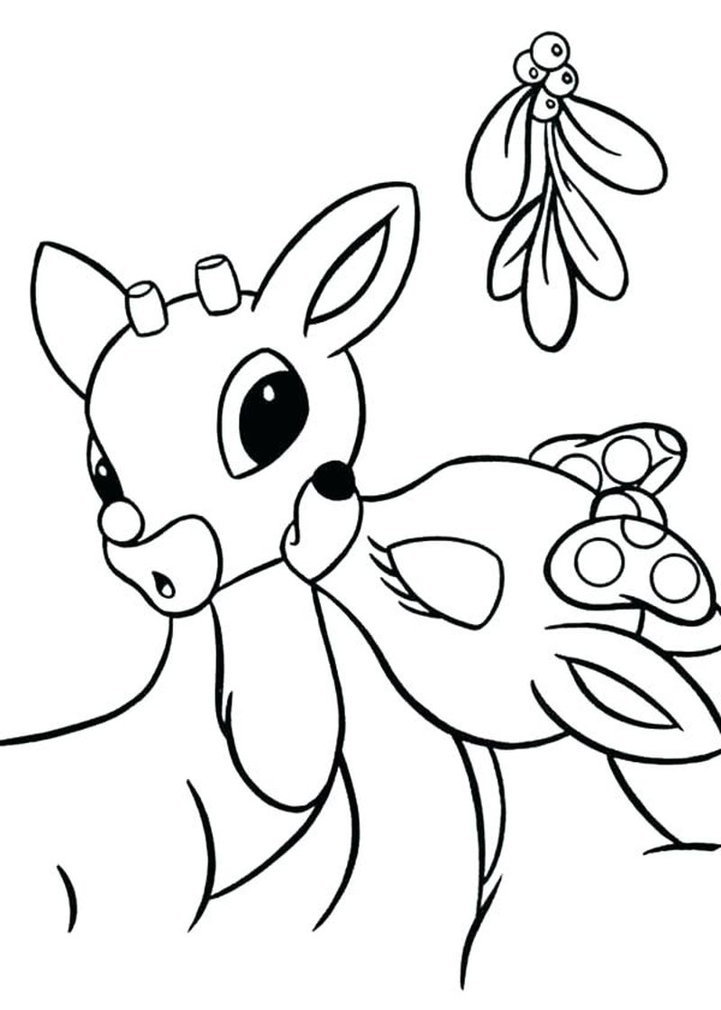 rudolph the red nosed reindeer coloring pages pdf