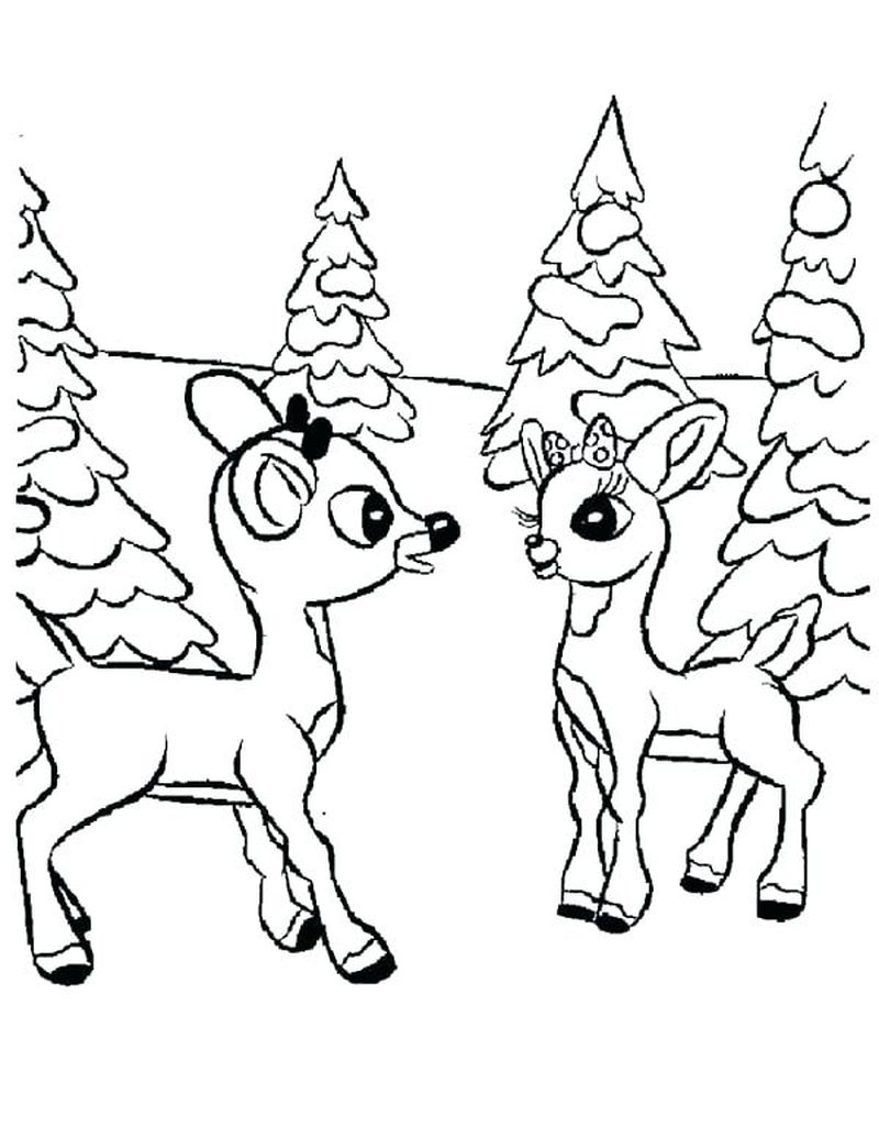 rudolph the red nosed reindeer coloring pages santa