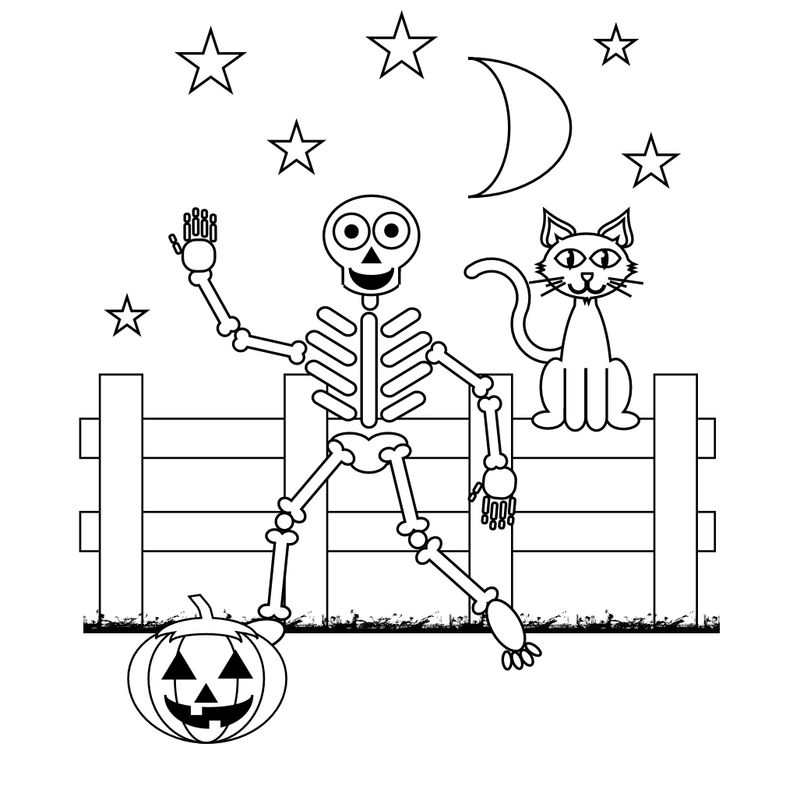 skeleton girl coloring pages Printable