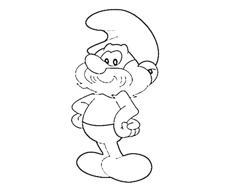 smurfs colouring books Printable