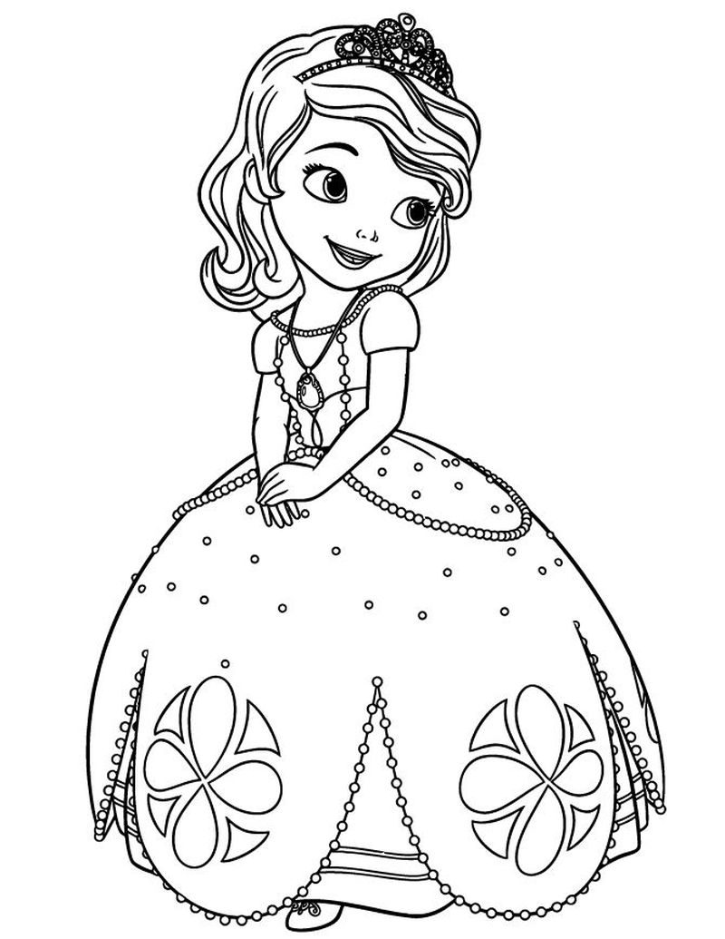 sofia pictures to color Printable