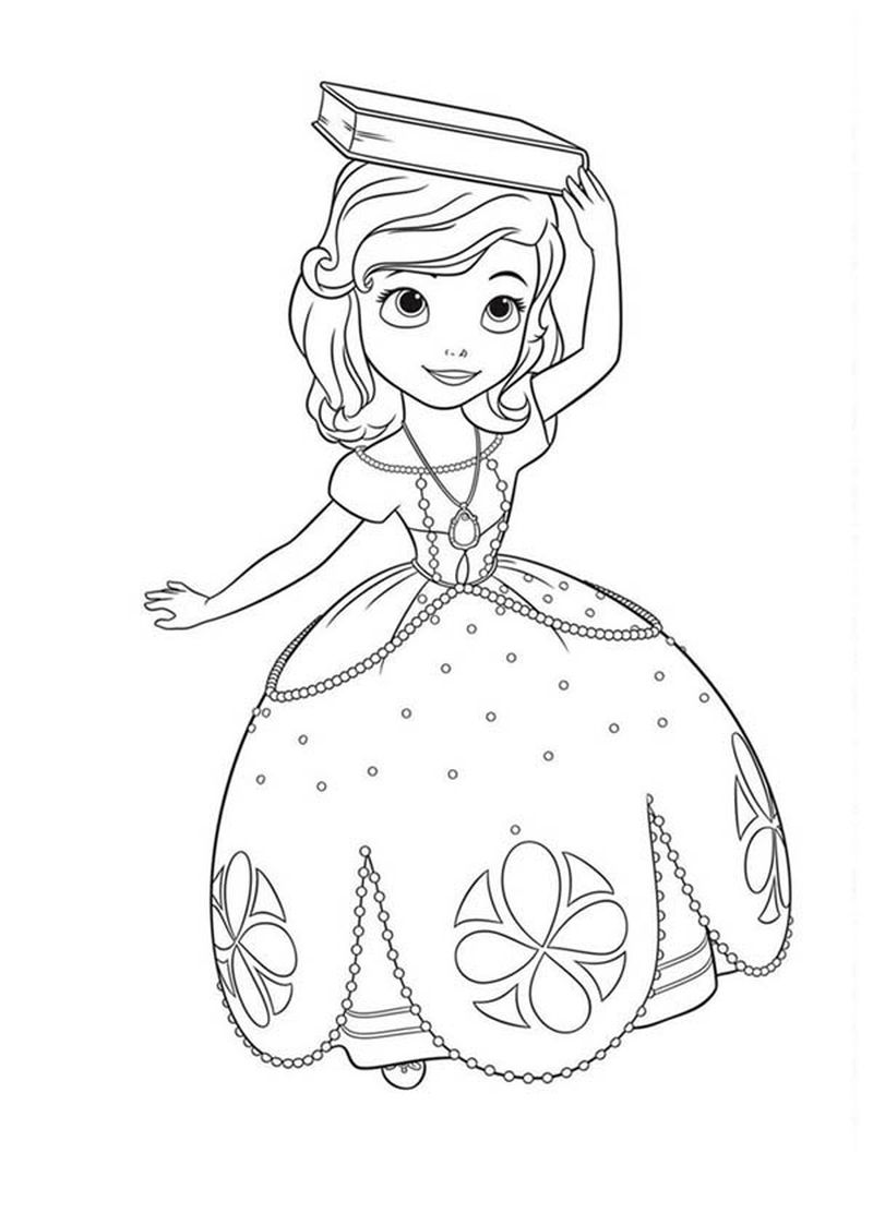 sofia the first coloring pages pdf Printable