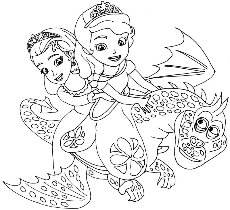 sofia the first coloring pages to print Printable