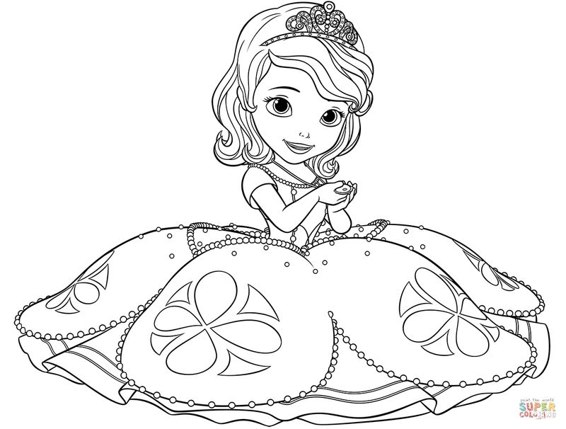 sofia the first free coloring pages Printable