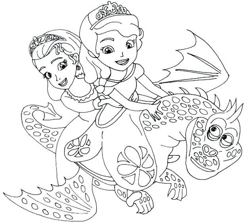 sofia the first pictures to color Printable
