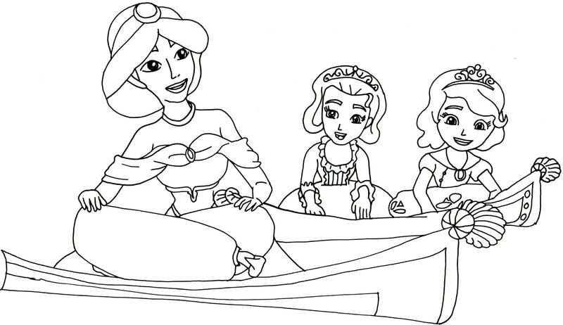sofia the first to color