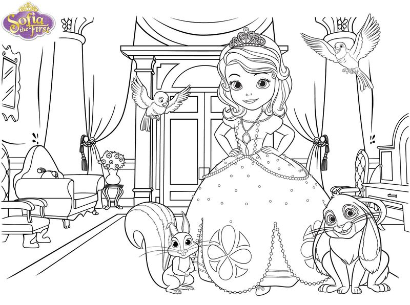 sophia the first coloring book Printable