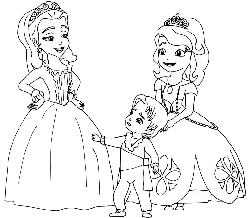 sophia the first coloring page Printable