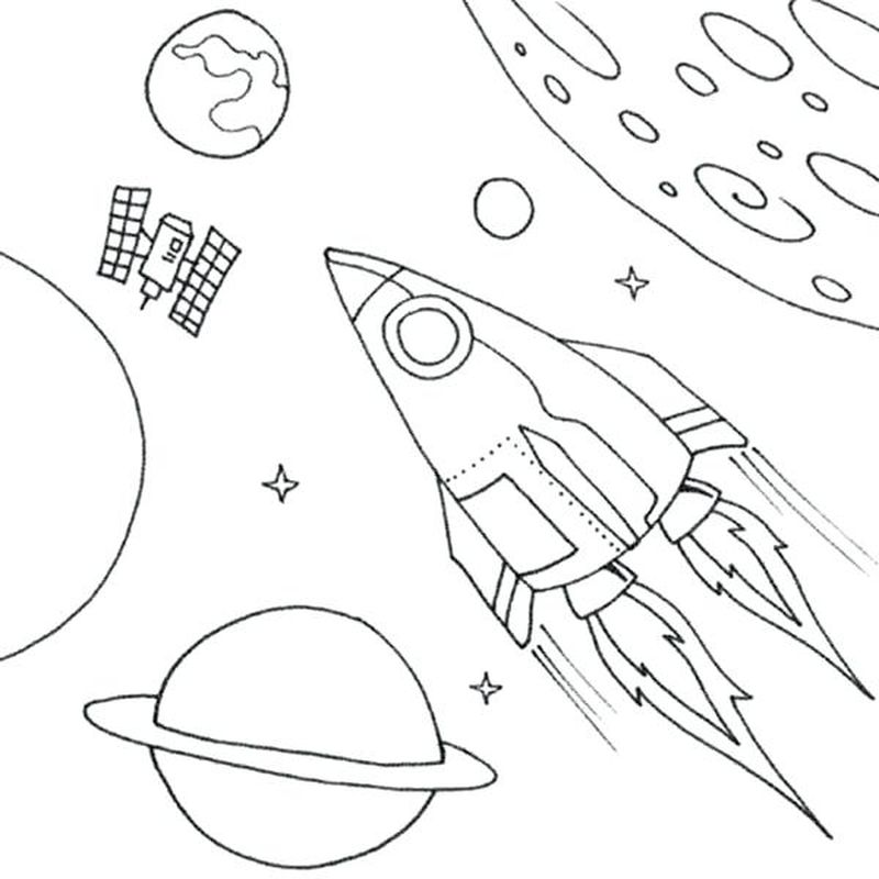 space coloring pages pdf