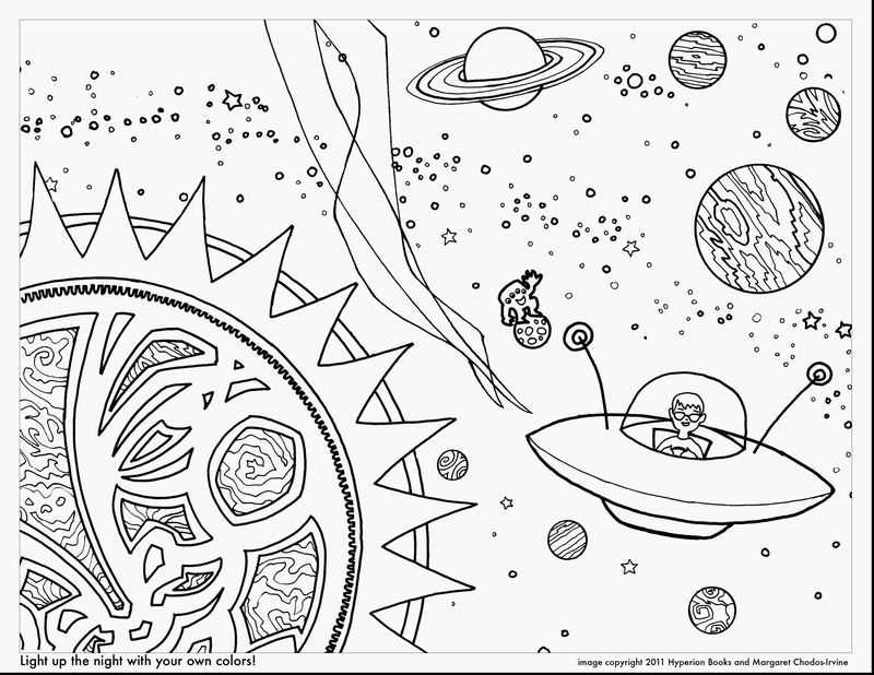 space happy birthday coloring pages