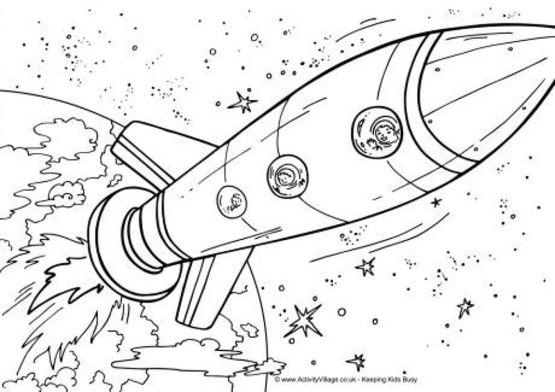 space man coloring pages