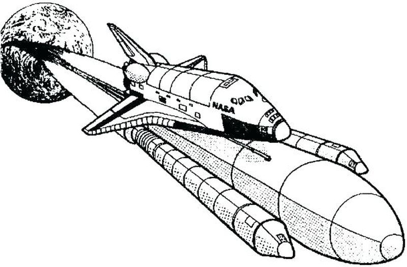 space shuttle interior coloring pages