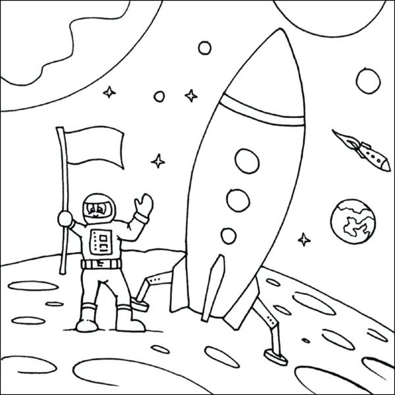 space suit coloring pages