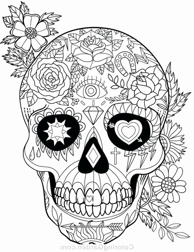 spooky skeleton coloring pages