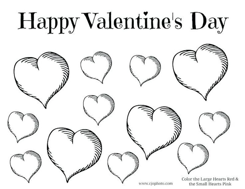 st valentines coloring pages Printable