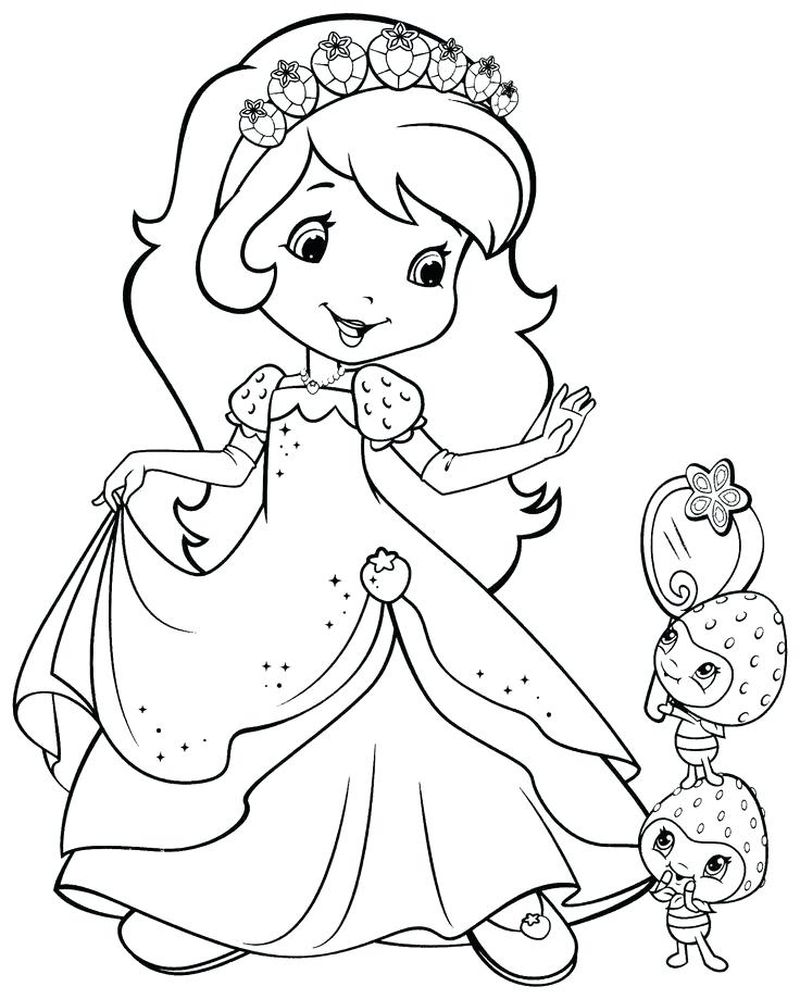 star strawberry shortcake free coloring pages Printable