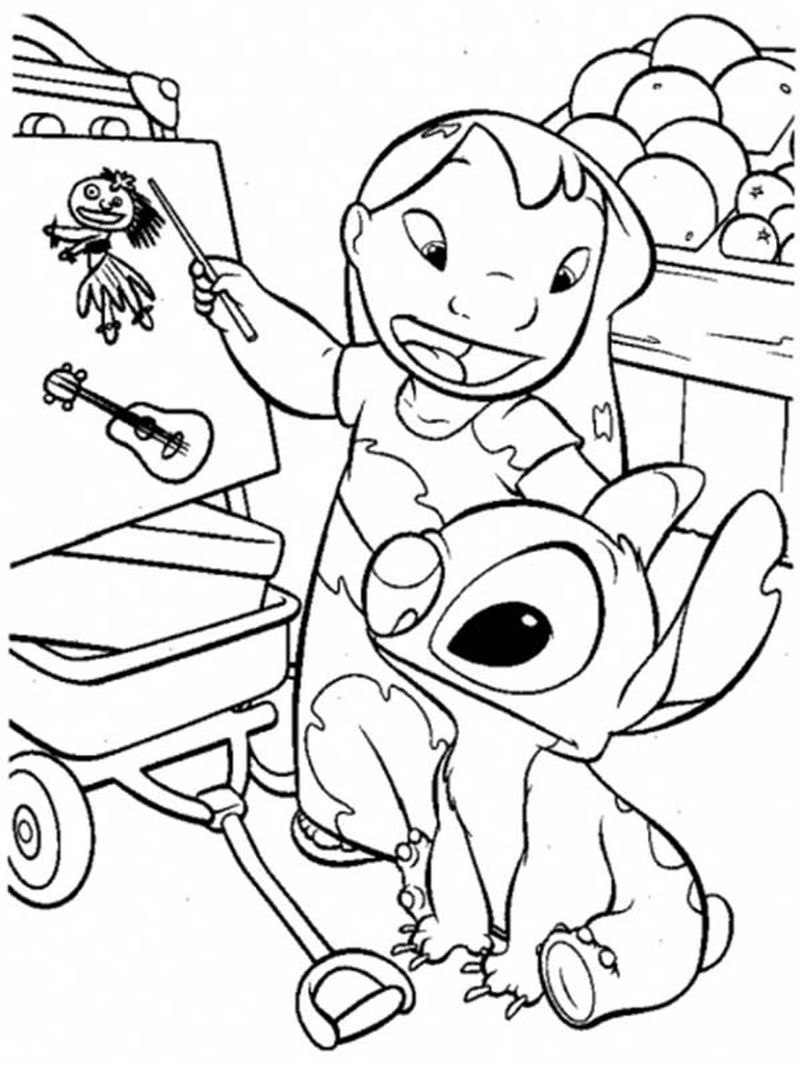 stich coloring pagePrintable