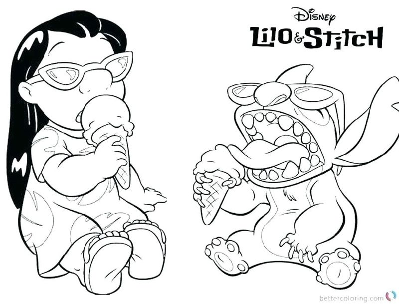 stitch PRINTABLE coloring pages